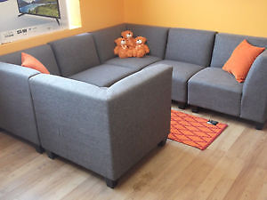 6 PC GREY RECEPTION AREA MODULAR SECTIONAL COUCHES - AS NEW Stratford Kitchener Area image 10