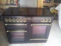 Black rangemaster gas cooker