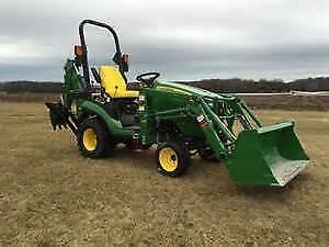 Compact tractor/loader/backhoe for rent
