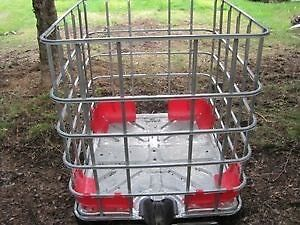 Steel cage for firewood storage