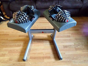Ironman adjustable dumbbells 5lbs - 55lbs with stand