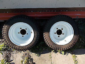 Pair of Lawn and Garden Titan Tires and Rims18 x 8.00-10 Tractor