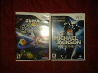 Super Mario galaxy et Michael jackson the experience !!