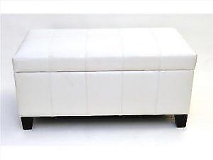 White  Leather Storage Bench in sale (BD-2635)