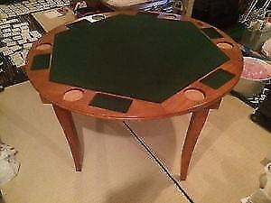 Poker Table Solid Wood  Sport craft