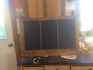 Chalkboard from Reclaimed Wood Window