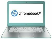 NEW IN BOX HP GOOGLE CHROMEBOOK 14 OCEAN TURQUOISE