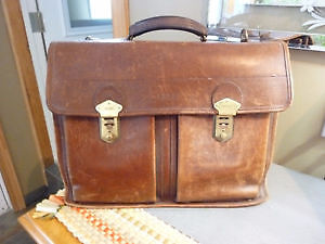Leather briefcase - Bree