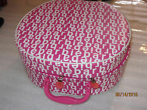 Very nice Pink and White Barbie Doll Hat Box. BRAND NEW