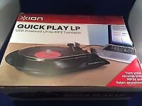 Ion by Numark record player/recorder, vinyl, turntable, vinyl to MP3.