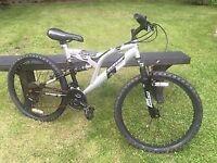 """Dunlop Sport Atomic Charge 26"""" Wheel Mens Dual Suspension Mountain Bike"""