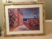 Painting Marina Di Campo Framed and double Matted