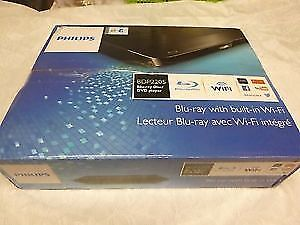 Brand New Philips BDP2205 Blu-ray Disc Player with Built-In WiFi