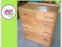 SALE NOW ON!! Vintage Solid Wood Chest Of Drawers - Can Deliver for £19