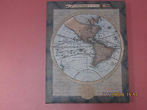 Antique world map canvas print (Western Hemisphere)