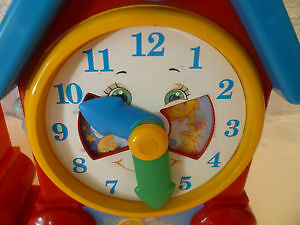 Vintage Fisher Price Wind Up Musical Clocks