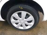 Nissan 14 inch wheels n tyres