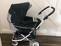 Emmaljunga pram and toddler seat unit