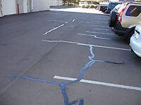 Hot rubber crack repair!! Commercial parking lot asphalt repairs