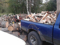 TIMMERS FIREWOOD DELIVERY $100 1/3 CORD SPLIT 5876797411 STACKED