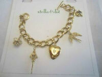 Stella Dot Alice in Wonderland charm bracelet limited edition