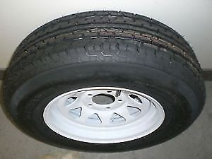 "ST205/75 R14 - 14"" TRAILER TIRES on WHITE RIMS $119.00 - CLENTEC"