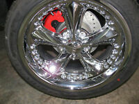 4 FOOSE RIMS WITH TIRES