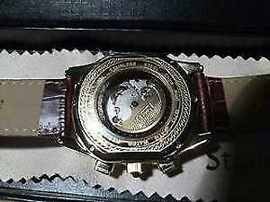 Authentic Stauer Meisterzeit Mechanical Skeleton mens watch
