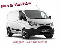 ⭐ MAN with VAN 🚚 Hire - GLASGOW - ALL AREAS - 7 Days a week -⏰ 24hr service