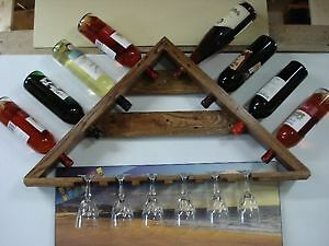 custom reclaimed wine rack