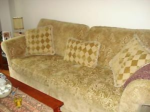 Designer Couch With Love Seat and pillows