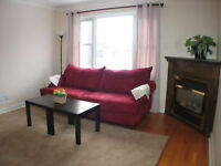 Furnished 2 bedrm Near Tunney's pasture & Civic Hospital