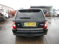 RANGE ROVER SPORT TAIL GATE COMPLETE ,FINISHED IN BLACK 2007