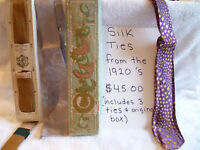 Silk Ties From the 1920's
