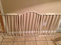 Barrière en métal 6 pied ajustable avec porte