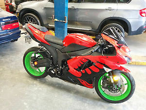 08 ninja zx6r only 6000km  trade 4 2 stroke dirt bike