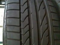 2 x 245/35/18 BRIDGESTONE POTENZA RE050A RUN FLAT tires %80 tre