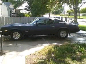 1980 camero body and transmission only. No Engine