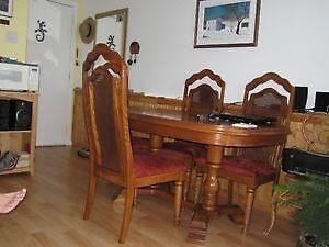 Set de cuisine en bois chêne massif