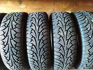 SET OF 4 WINTER TIRES 215 55 R 17 WITH 90% TREAD