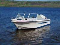 looking to trade my 16fot bow rider with trailer and motor