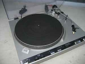 Technics stereo Turntable Record Player - with records