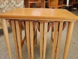 SALE NOW ON!! Side Table with 4 Foldaway Drop Leaf Circular Tables - Can Deliver For £19