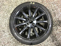 MGF OR MGTF SET OF 11 SPOKE ALLOY WHEELS 7 X 16 IN BLACK WITH TYRES EXCELLENT CONDITION