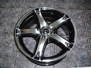 """4 Mags ou roue 17"""" noire et chrome"""