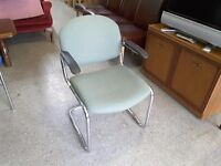 20% OFF SALE- Light Green Reception Chair / Office Chairs- 3 Available - Can Deliver For £19
