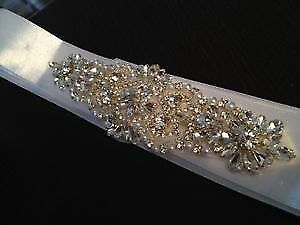 Selling NEW - Stunning Wedding sash / belt with Crystals!