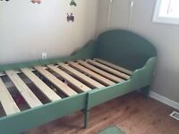 RRP £150 Single bed extendable first bed to adult TROGEN IKEA toddler child junior bed green