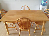 5 Piece Solid Wood Kitchen Table Set