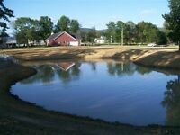 Pond construction and pond stocking